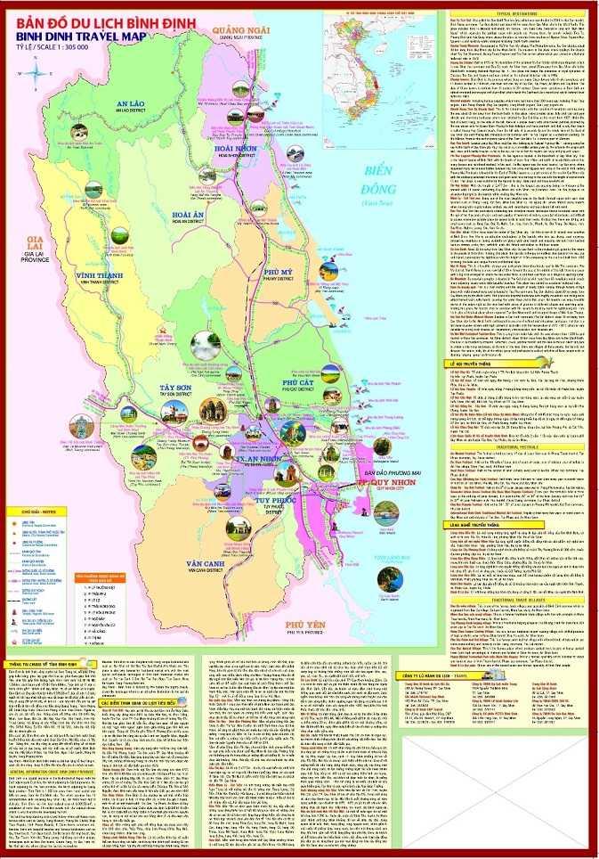 bản đồ du lịch bình định
