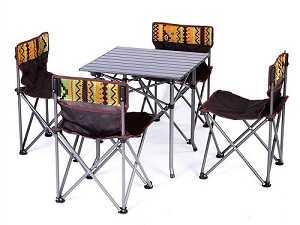 bàn ghế nhôm gấp gọn cắm trại